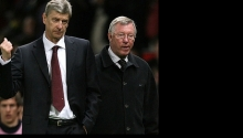 Arsene Wenger a sir Alex Ferguson